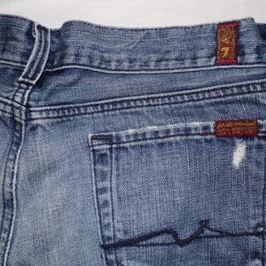7 FOR ALL MANKIND STRAIGHT LEG MEN'S JEANS 30 X 34